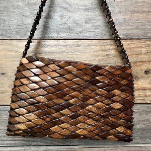Handbags - Wooden Mosaic Shoulder Bag